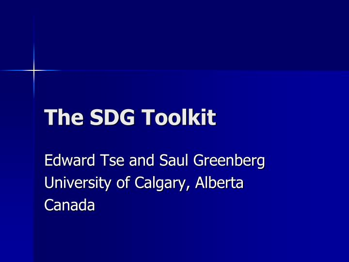 the sdg toolkit n.