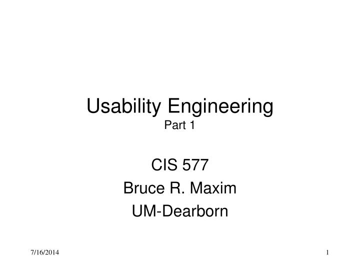 usability engineering part 1 n.