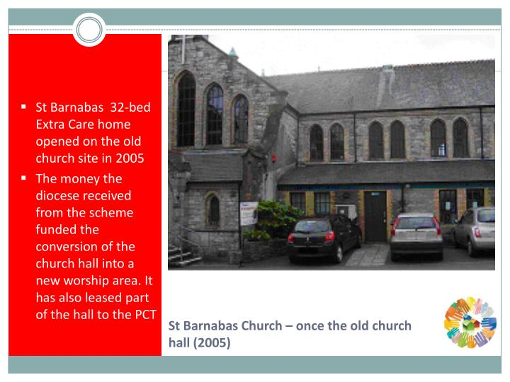 St Barnabas  32-bed Extra Care home opened on the old church site in 2005