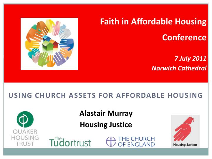 Using church assets for affordable housing