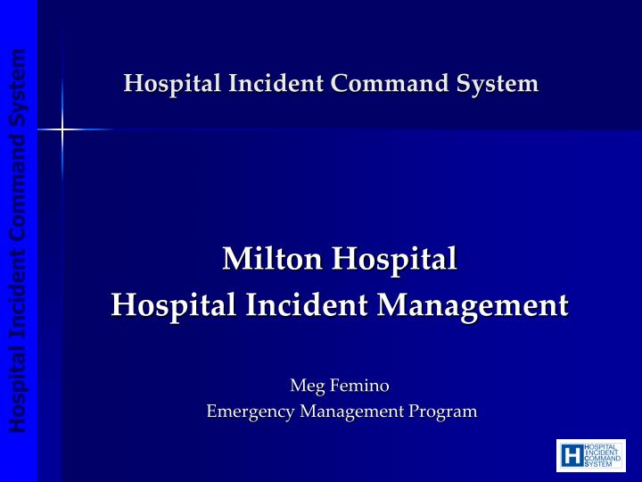 hospital incident command system n.