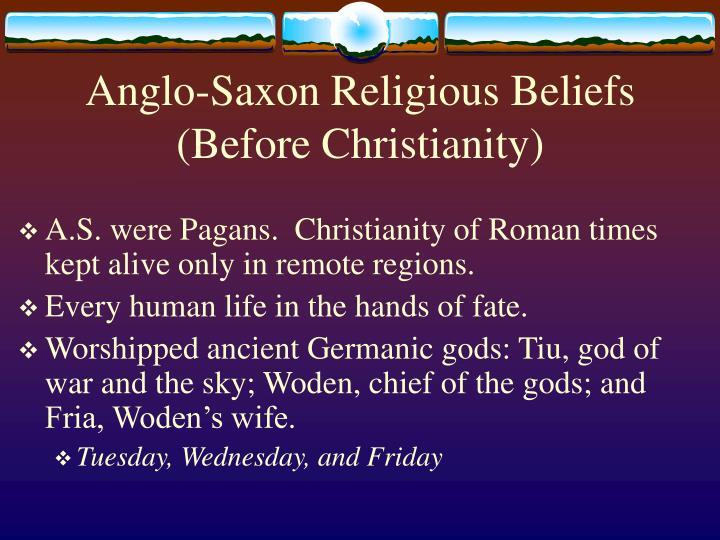 anglo saxon religious beliefs