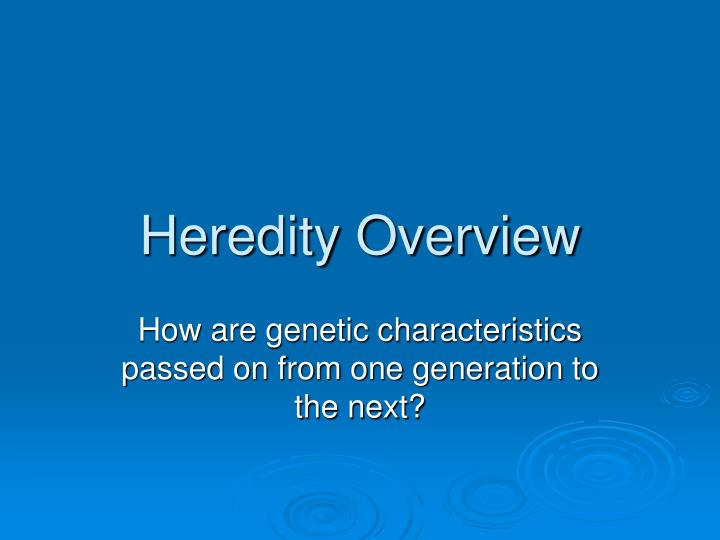 heredity overview n.