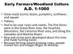 early farmers woodland culture a d 1 1000
