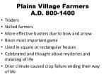 plains village farmers a d 800 1400