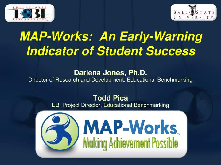 map works an early warning indicator of student success n.