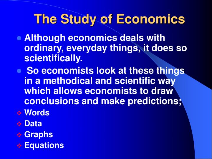 the study of economics You can check out the field's classification system (called jel codes) for more topics that economists study why should i care about economics.