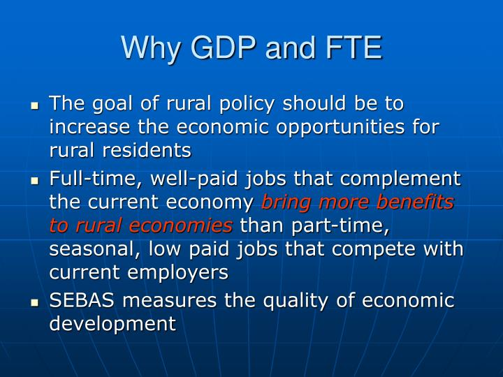 Why GDP and FTE
