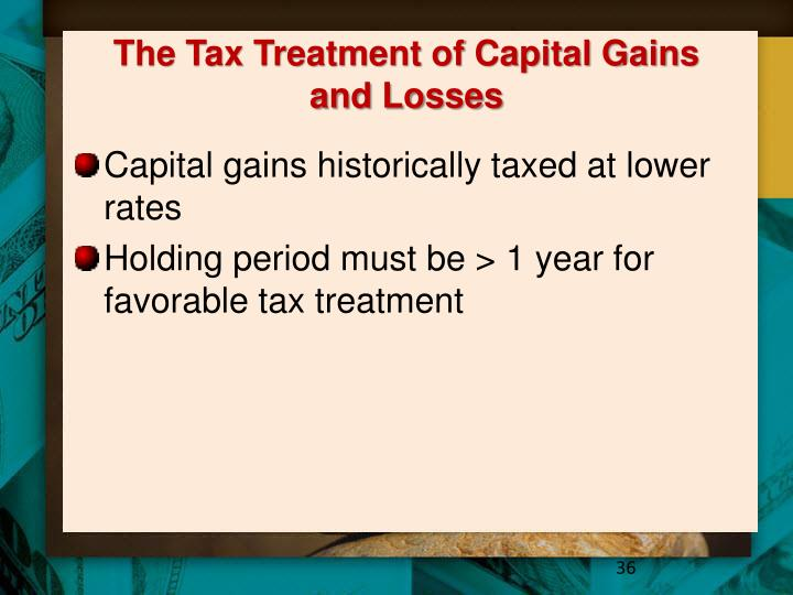 The Tax Treatment of Capital Gains