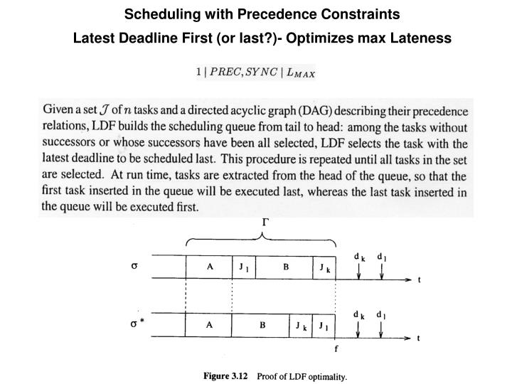 Scheduling with Precedence Constraints