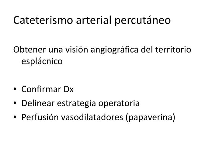 Cateterismo arterial percutáneo