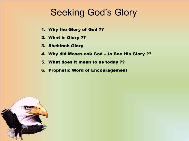seeking god s glory n.
