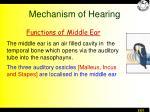 mechanism of hearing1