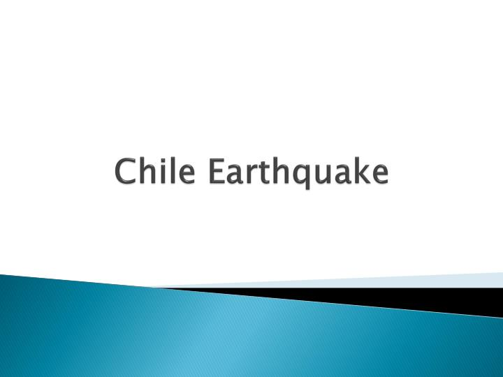 chile earthquake n.