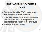 eap case manager s role