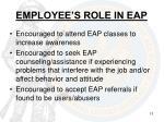 employee s role in eap