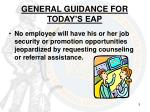 general guidance for today s eap1
