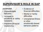 supervisor s role in eap1