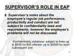 supervisor s role in eap4