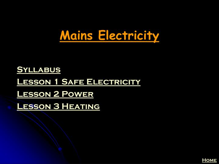 mains electricity n.