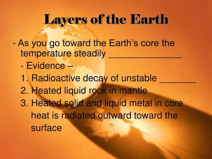 Layers of the Earth