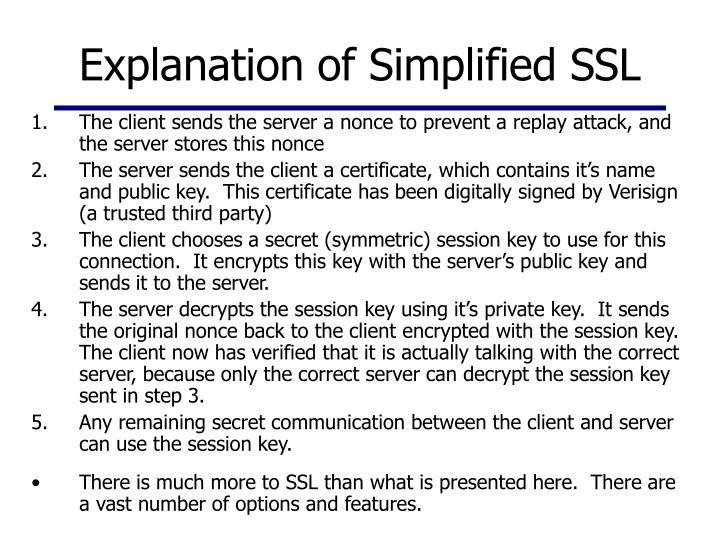 Explanation of Simplified SSL