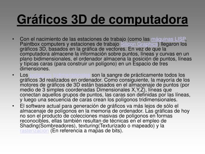Gráficos 3D de computadora