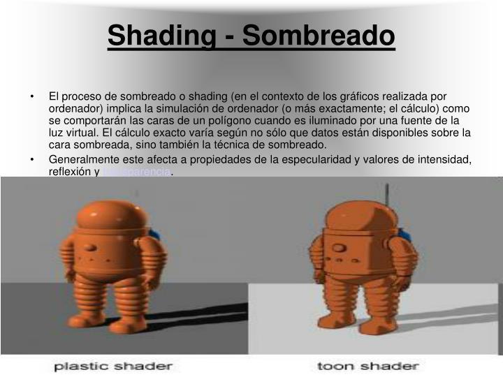 Shading - Sombreado