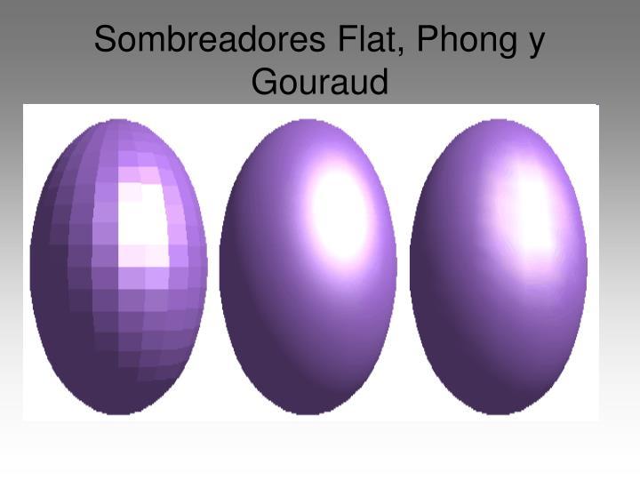 Sombreadores Flat, Phong y Gouraud