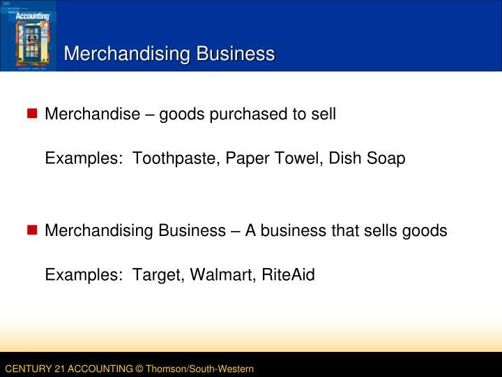 merchandising business examples