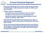 a cross functional approach