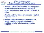 costs beyond funding costs beyond period of performance1