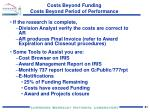costs beyond funding costs beyond period of performance3