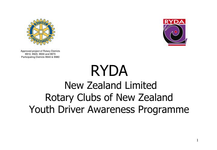 ryda new zealand limited rotary clubs of new zealand youth driver awareness programme n.
