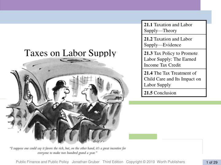 taxes on labor supply n.