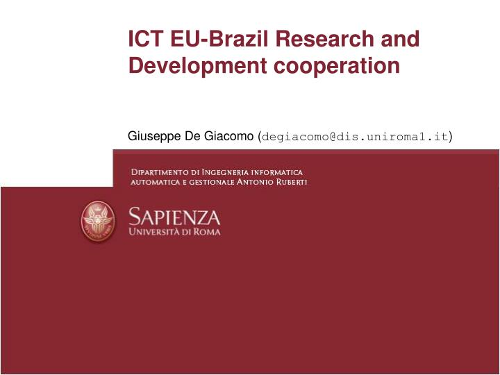 ict eu brazil research and development cooperation n.