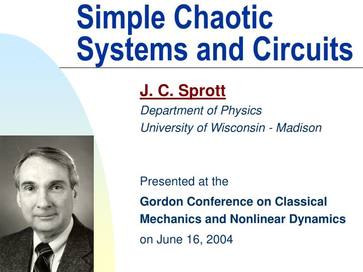 simple chaotic systems and circuits n.