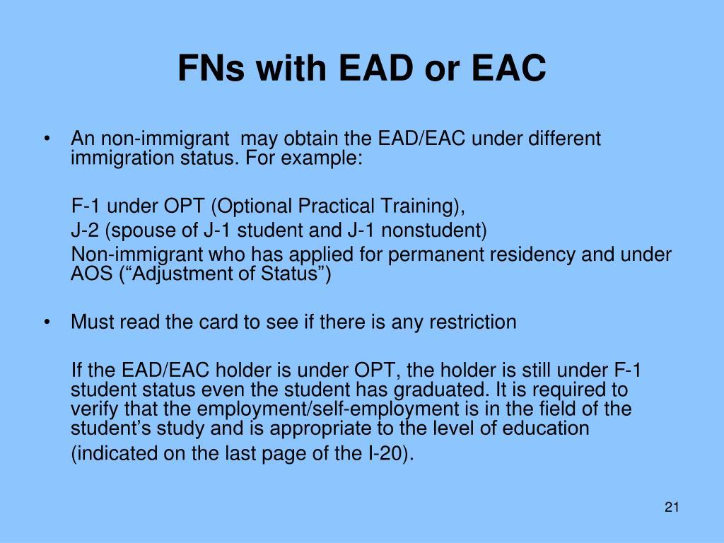 Residency Programs Accepting Ead