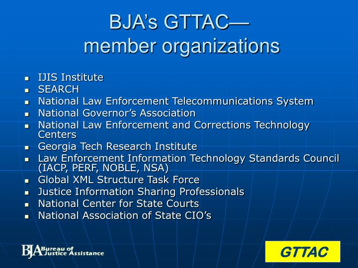 Bja s gttac member organizations