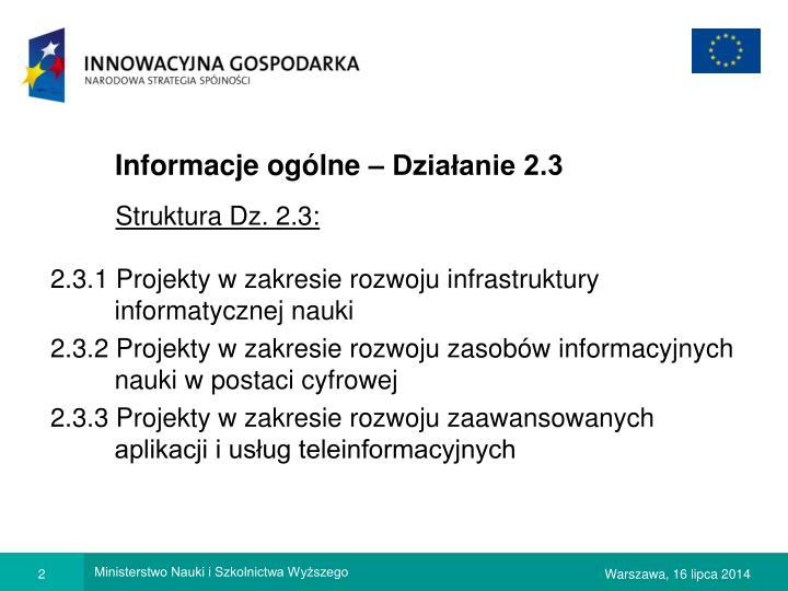 Informacje og lne dzia anie 2 3