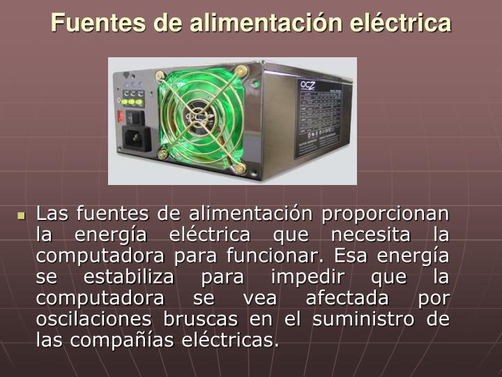 Fuentes de alimentación eléctrica