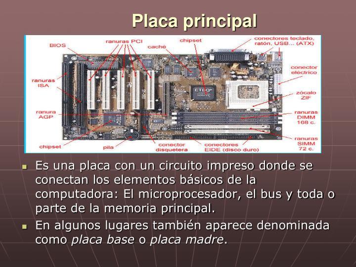 Placa principal