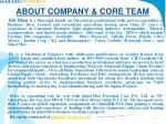 about company core team3
