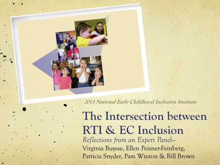 the intersection between rti ec inclusion n.