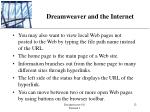 dreamweaver and the internet8