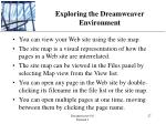 exploring the dreamweaver environment2
