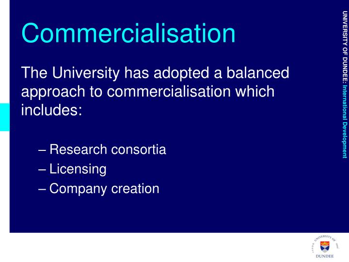Commercialisation