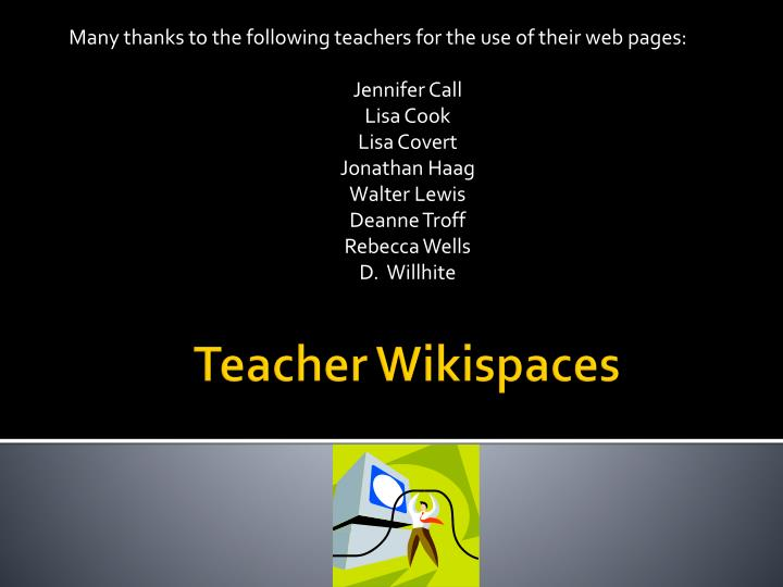 teacher wikispaces n.