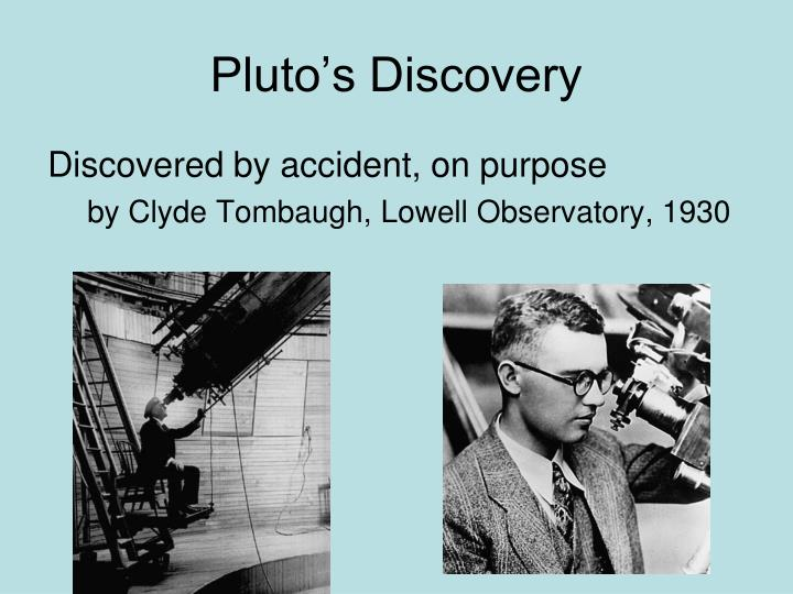 Pluto s discovery
