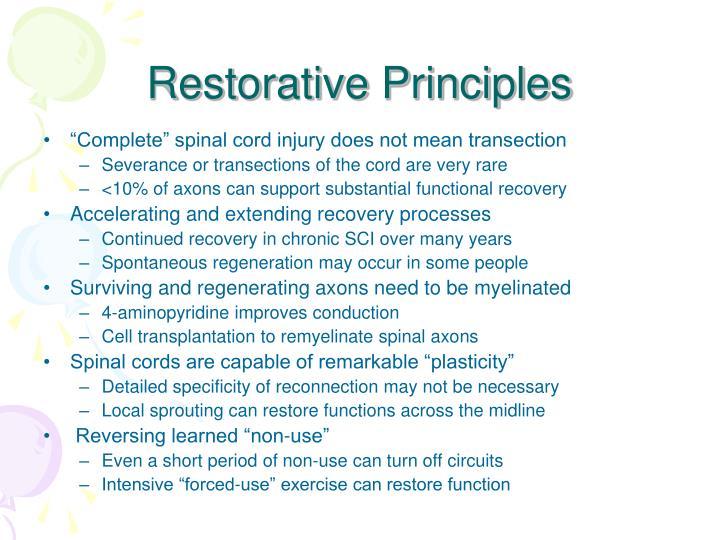 Restorative Principles